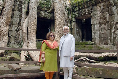 Mohammad Hamid Ansari (and his wife) Former Vice-President of India September 2015
