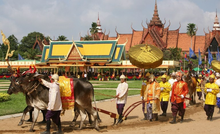 THE ROYAL PLOUGHING CEREMONY IN CAMBODIA