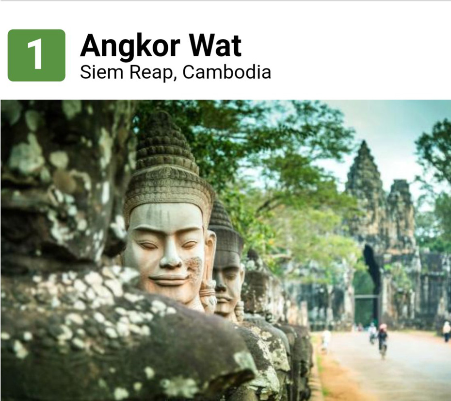 TRIPADVISOR REVEALS ANGKOR WAT AS THE WORLD'S #1 LANDMARK
